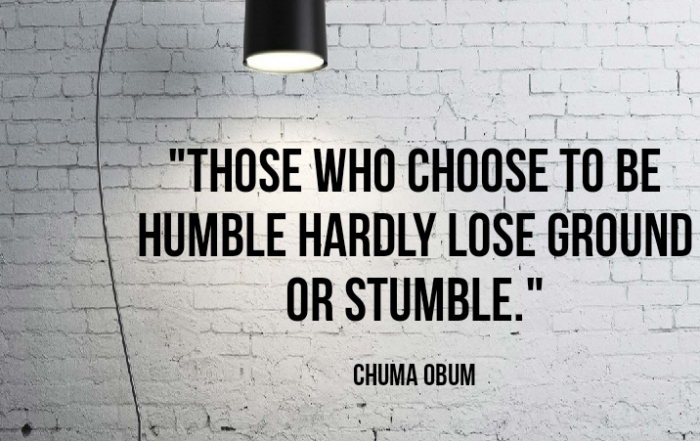 Be Humble Image By Chuma Obum